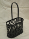 Wrought Iron Black Wine or Spirit Bottle Carrier-Basket New